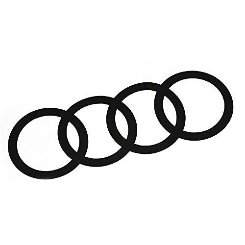 Original Audi Q2 C-Blade Dekorfolie Set Audi Ringe Exterieur Ringe Brilliantschwarz 81B064317 Y9B