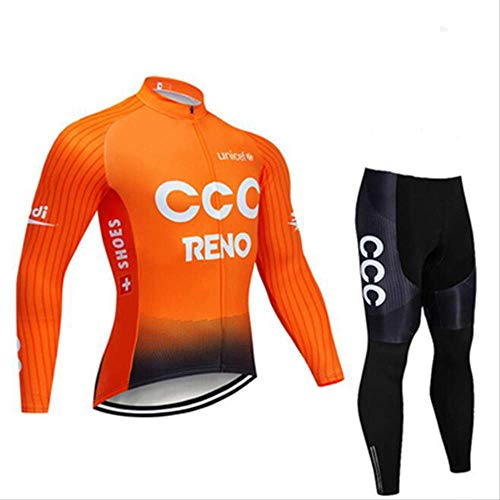 Fleece Fietskleding, De Nieuwe 2019 Herfst En Winter Fleece Heren En Dames Lang-Sleeved Ccc Wit En Oranje Fietskleding