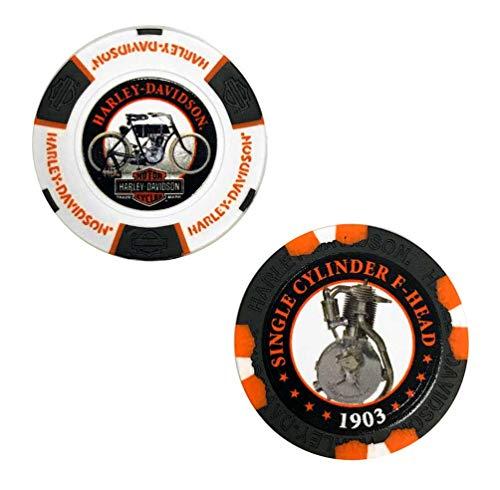 Harley-Davidson Limited Edition Series 1 2pk Poker Chip Pack, Black/White 6701D