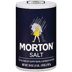 Morton Salt, Plain, 26 Ounce