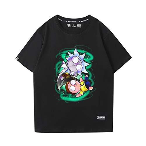 GRTBNH Verano Rick y Morty Camiseta Hombres Dibujos Animados Manga Corta Unisex Lindo Harajuku Anime Camiseta Tops,Style 6,XL