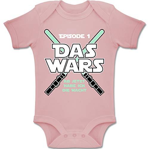 Shirtracer Zur Geburt - Das Wars Jetzt Habe ich die Macht Junge - 1/3 Monate - Babyrosa - Body oma - BZ10 - Baby Body Kurzarm für Jungen und Mädchen