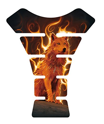 Motorcycle sportbike Fire Wolf Tank Pad protector Guard Sticker Decal