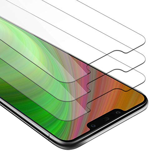 Cadorabo 3X Panzerglasfolie für Huawei Mate 20 LITE - Schutzfolie in KRISTALL KLAR - 3er Pack Gehärtet (Tempered) Bildschirmschutz Glas in 9H Festigkeit mit 3D Touch Kompatibilität