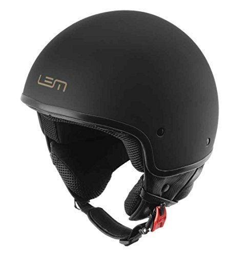 Casco Moto LEM - Roger Custom Black Powder, NEGRO MATE (XL)