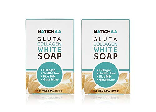 Glutathione Collagen White Soap (2 Pack) - Reduce Wrinkles, Freckles & Acne-Firm & Brightening Your Complexion for Body & Facial Skin
