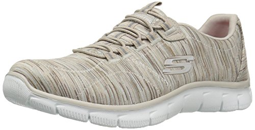 Skechers Women's Empire Game On Memory Foam Sneakers Shoes, Taupe, 8.5 B(M) US