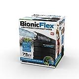 BIONIC FLEX 7216 Heavy Duty Lawn Commercial Grade Lightweight, Drag Resistant, Kink Free Reinforced Garden Hose As Seen on TV, 75', Black
