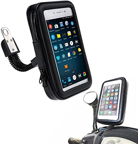 Borsa Porta Celluare Per Moto e Bici, Impermeabile Universale Con Touchscreen, Copertura Antipioggia, Per Smartphone Fino A 5,5