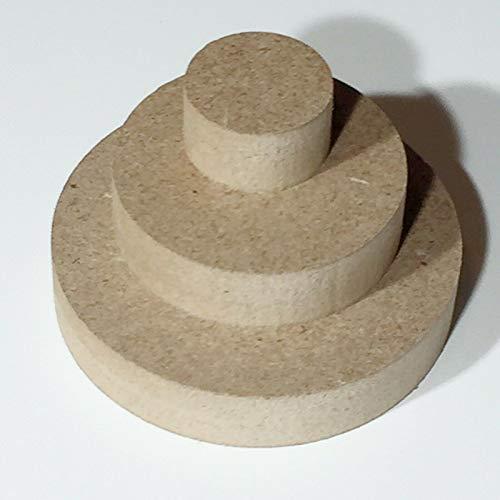 Sticker Design Shop 12mm MDF ronde houten schijf rond hout schijven cirkel tafelblad knutselen Ø50mm - Ø800mm Ø 800mm