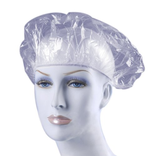 VKTECH® 100pcs Bonnets de douche étanche jetable Transparent pour le maquillage, maquillage de décharge, beauté visage propre ou un bain