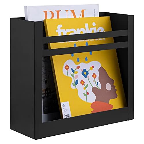 Navaris Zeitungshalter Wand Halterung für Zeitungen - 30x27x11cm Ablage für Zeitschriften Broschüren Briefe Flyer - Wandmontage Ablagefächer