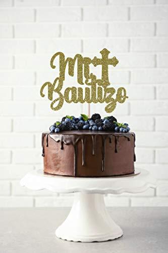 Adorno para tarta de bautizo Mi Bautizo, decoración para tarta de bautizo, para comunión, para la primera comunión