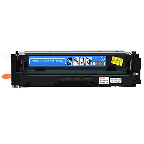 203A Cartucho de tóner Compatible con láser de Color Jet Pro M254DN M254DW M254NW MFP M280NW Cartucho (sin Chip),Azul