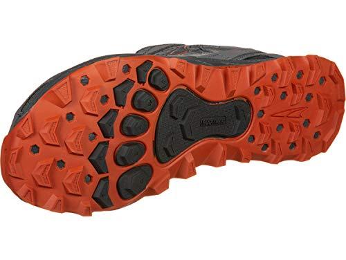 ALTRA Men's AFM1855F Lone Peak 4.0 Trail Running Shoe, Gray/Orange - 13 D(M) US