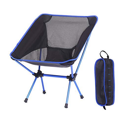 キャンプ 椅子 コンパクト アウトドアチェア 折りたたみ いす 携帯 軽い 耐荷重140kg ロータイプ コンパクト アルミ バーベキュー 耐久性 通气 お釣り ピクニック 車の中 (青)