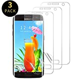 Protector de Pantalla para Samsung Galaxy S7 [3 Unidades][Cobertura Total] [Sin Burbujas] HD Film Flexible Transparente con para Galaxy S7(Not Cristal Templado)