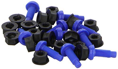connect Vis 31529 no. 8 Ecrou pour Plaque d'immatriculation 1,90 (cm-100 Pièces-) Bleu