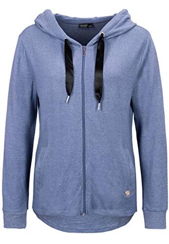 Eight2Nine Damen leichte Sweat-Jacke mit Kapuze meliert Dark-Blue XS