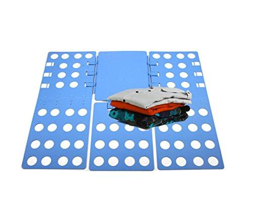 Hysada Clothes/T Shirt Folder Adjustable Folding Board, Adult Dress Pants Towels T-Shirt Folder/Shirt Folder/Laundry Folder Board Organizer, Blue