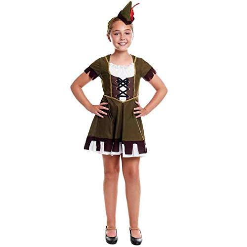 Disfraz Arquera Medieval Niña Carnaval Históricos (Talla 5-6 años) (+ Tallas)