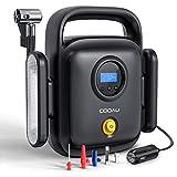 COOAU Compressore Aria Portatile Auto, 150PSI 12v con Protezione da Surriscaldamento e Dis...