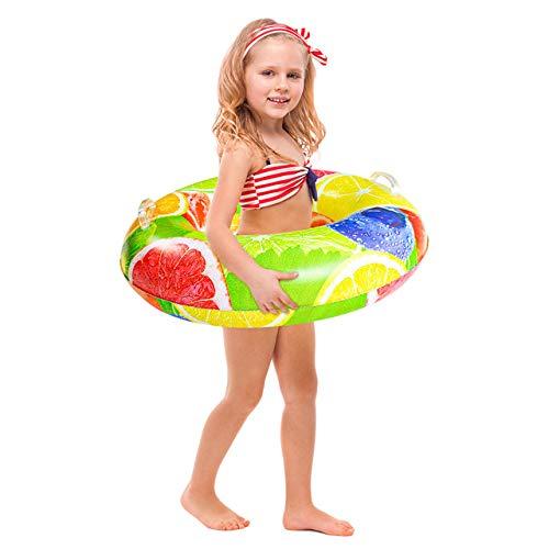 Anillo de natación para niños diseñado con fruta y anillo de natación, hecho de material de PVC ecológico, adecuado para juegos de playa o juegos de piscina (S)