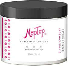 8oz, MopTop Curly Hair Custard Gel for Fine, Thick, Wavy, Curly & Kinky-Coily Natural hair, Anti Frizz Curl Moisturizer, D...