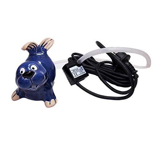 Gartenzaubereien Wasserspeier Seehund klein mit Pumpe + gratis Schild Lieblingsplatz