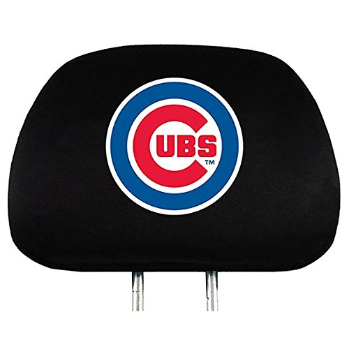 MLB Chicago Cubs Head Rest Covers, 2-Pack