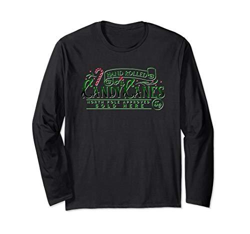 Christmas Candy Cane Shop Vintage Design Long Sleeve T-Shirt