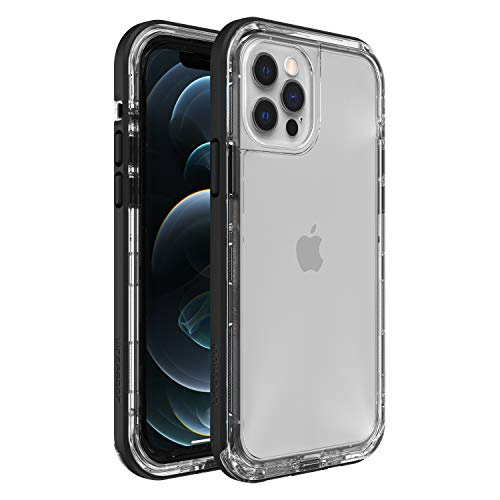LifeProof Next Amplify The Action, Clear and Slim DropProof, DustProof and SnowProof Case for Apple iPhone 12/12 Pro - Clear/Black