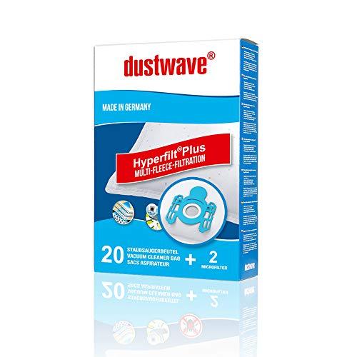 20 Staubsaugerbeutel | Filtertüten | Staubfilter passend für Edeka - E 01 / E01 - dustwave® Markenstaubbeutel/Made in Germany + inkl. 2 Microfilter (Megapack)