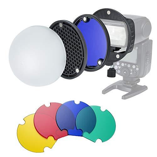 INSSTRO - Difusor de Flash con Caja de luz para Flash Speedlite...