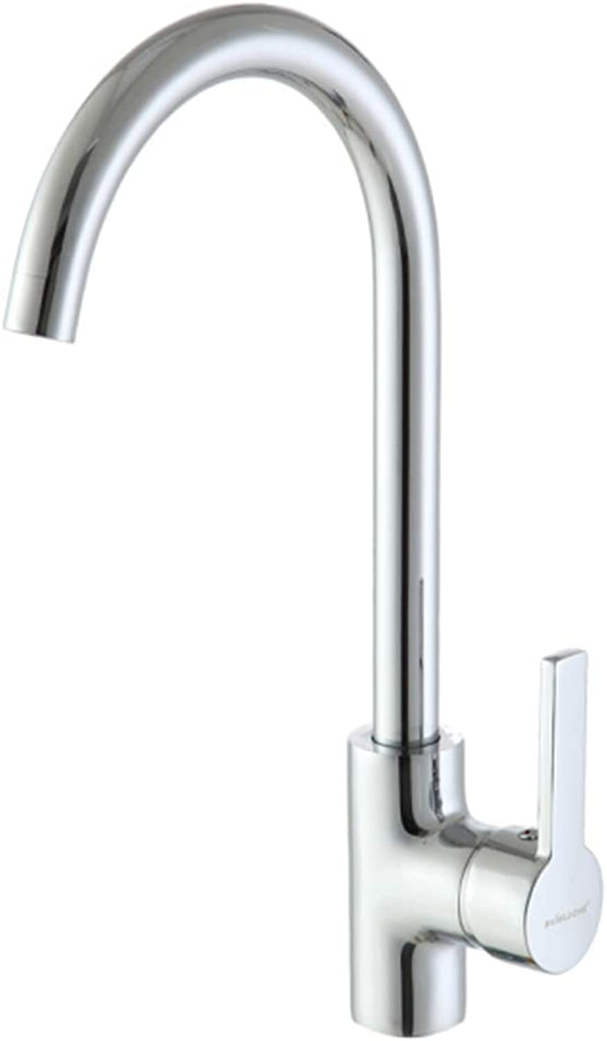 Kitchen Faucet Tapstainless Steelkitchen Faucet Proall Copper Kitchen Faucet Hot and Cold Wash Basin Flume Faucet Single Hole Swivel Tap