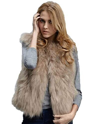 Ushiny Bont Vest Mouwloos Lichtgewicht Faux Bont Vesten Warmer Jas voor Herfst en Winter