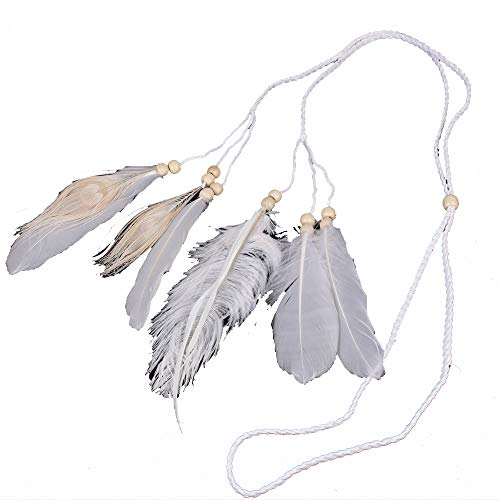 White Bohemian veer kwasten hoofdband met armband Gypsy Hippie Peacock Hoofddeksels hoofdtooi Vrouw Favoriete Haar Accessoires