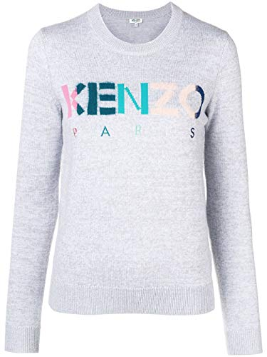 Luxury Fashion | Kenzo Dames F862TO51280862 Grijs Wol Truien | Seizoen Outlet