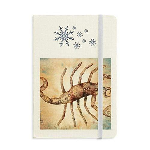 Novembre Ottobre Scorpione Costellazione Zodiaco Notebook Spesso Diario Fiocchi di Neve Inverno