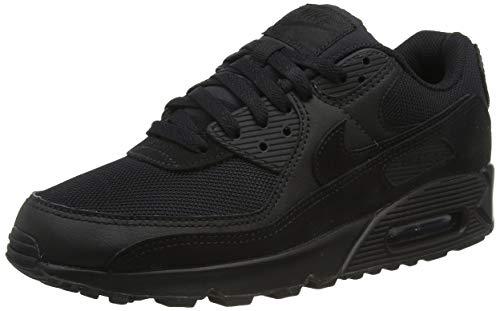 Nike Air MAX 90, Zapatillas para Correr Hombre, Negro (Black/Black/Black/White), 41 EU