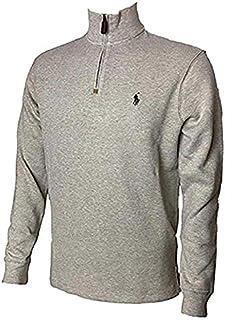 Ralph Lauren Men Half Zip French Rib Cotton Sweater (XL,...