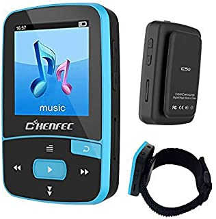 16GB Bluetooth MP3 Player, Sports Clip Hi-Fi Sound Music Player with FM Radio, Pedometer, 1.5 Inch OLED Screen, Support Mi...