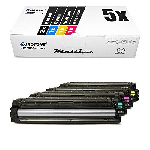 5X Eurotone Toner für Samsung C3060ND C3010ND C3060FR C3010 C3060 ersetzt CLT-503 CLT503 Set
