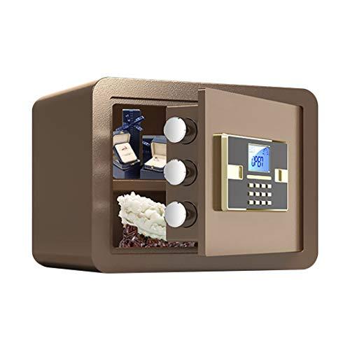 Safe Digital Security Keyboard Luxus Electronic Digital Digital Diebstahl Sicherheit Stahl Sicherheit Home Security Private Security Piggy Bank (Color : Brown)