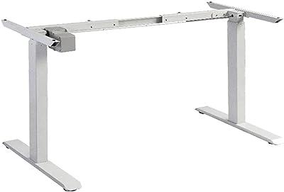 Standing Desk Height Adjustable Sit Stand Motorised Single Motor Frame White Only