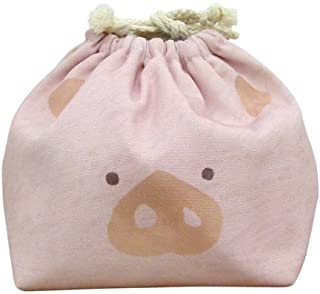 東洋ケース 巾着袋 LIKE KITCHEN 保冷機能有り アルミ蒸着シート使用 おかおきんちゃく ブタ KT-KAO2-BUTA