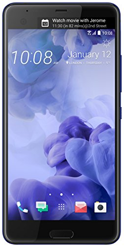 HTC U Ultra 64GB Unlocked (GSM Only, No CDMA) Android 7.0 with HTC Sense Smartphone Sapphire Blue (Dual-Display | 16MP+12MP Cameras | 3D Audio)