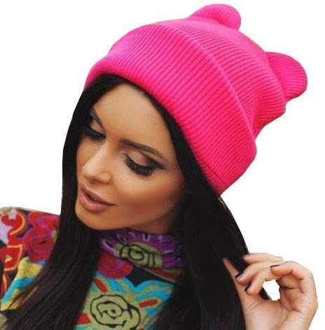 Women's Hot Pink Pussy Cat Hat Wo…