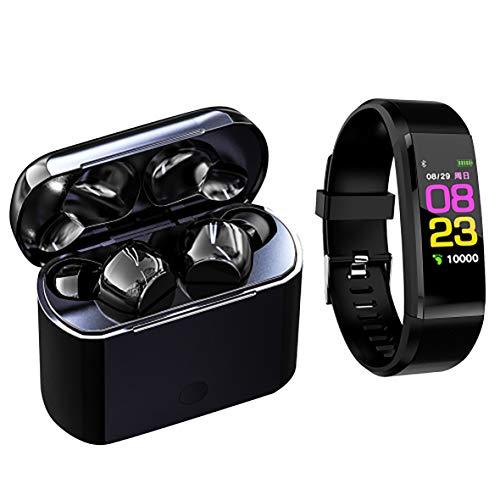 BLAUPUNKT MP1520-133 Armband-Set mit Mango-Ohren, kabellos, Bluetooth, kompatibel mit iOS und Android, Schwarz