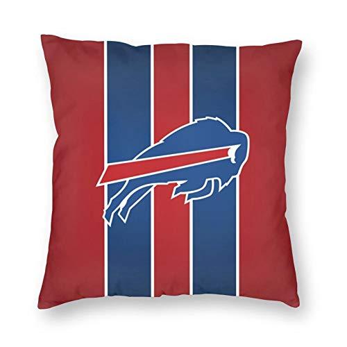 hfdff Buffalo Bills - Fundas de Almohada Suaves y cómodas, decoración de Funda de cojín para sofá Cama, se Adapta a Almohadas de 18 x 18